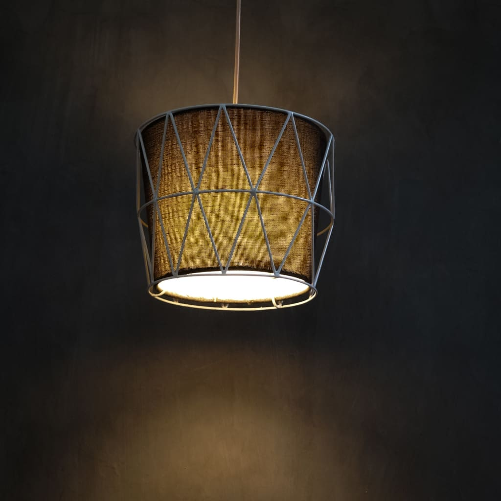 Quintessential White Wire Hanging Cage Lamp Pendant Lighting