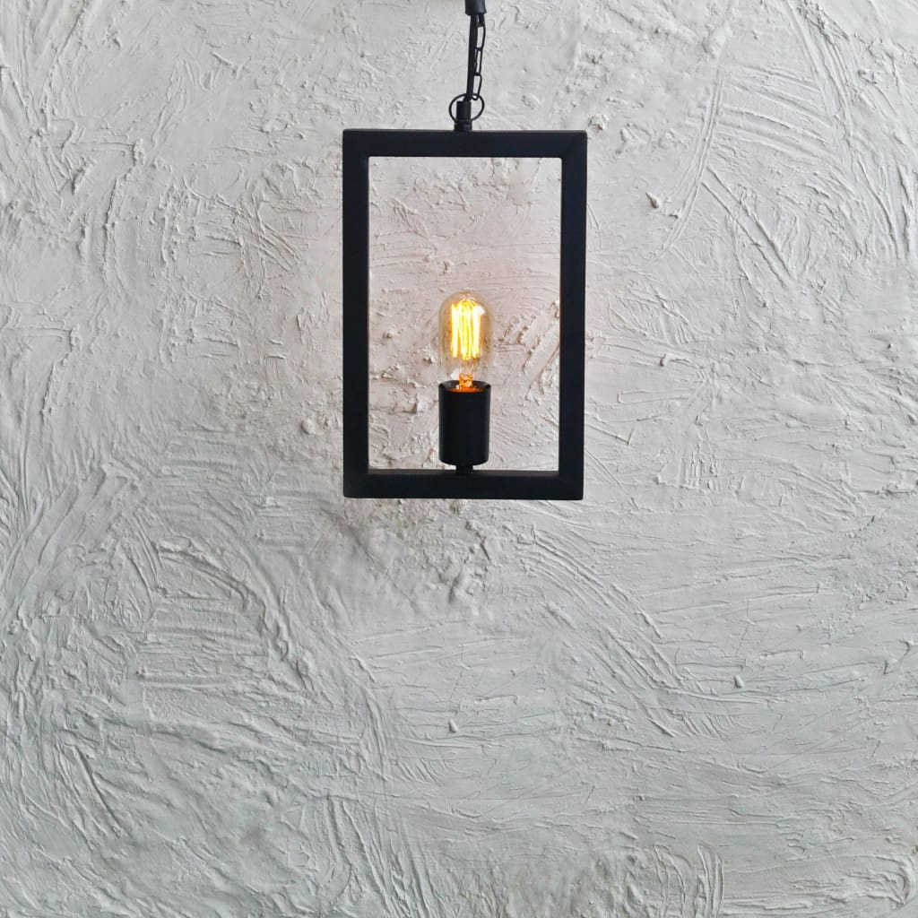 Rectangle Frame Industrial Ceiling Pendant Lighting