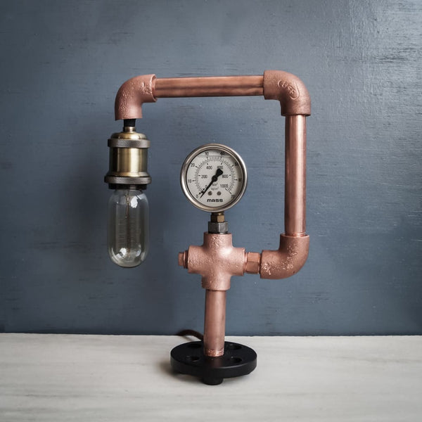 Resurgence CU29 Industrial Copper Lamp - The Black Steel
