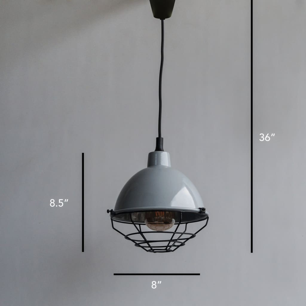 Retro Modern Grey Pendant Industrial Lighting Fixture