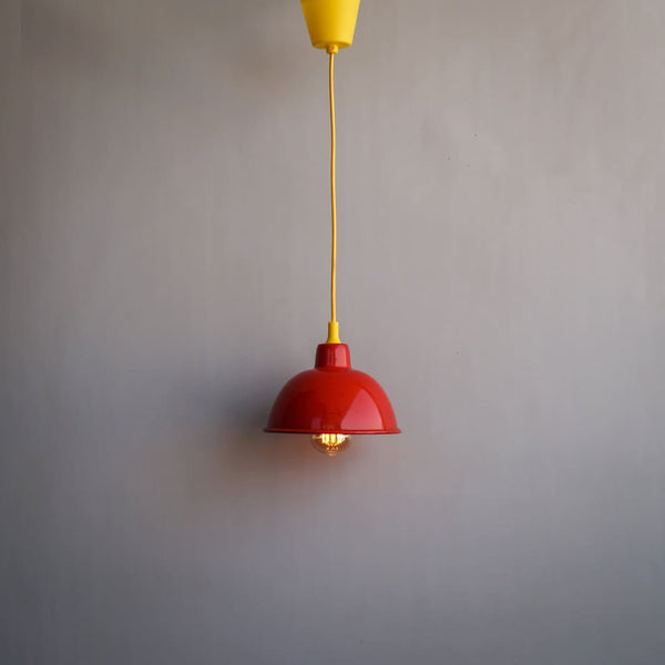 Scarlet Red De Stijl Interior Style Classic 1917 Pendant Lamp - The Black Steel