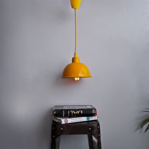 Sunshine Yellow 1917 Classic Yellow Pendant Lighting - The Black Steel