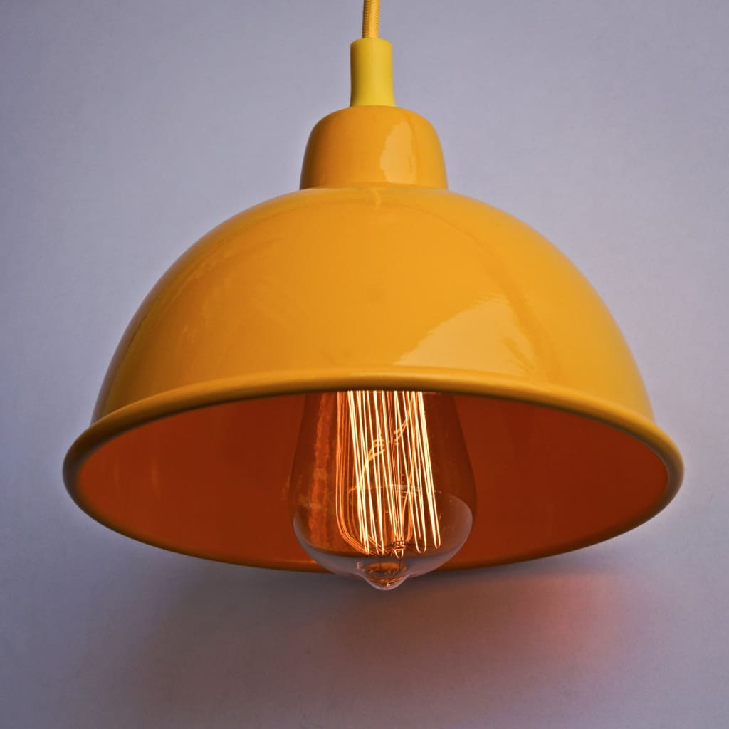 Sunshine Yellow 1917 Classic Yellow Pendant Lighting