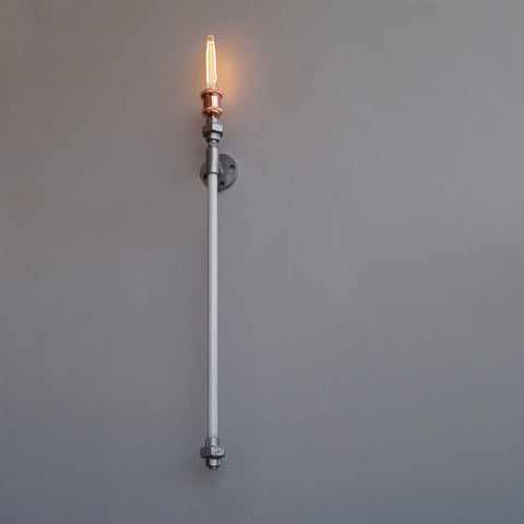 TPF22 Industrial Pipe Decorative Wall Light - The Black Steel