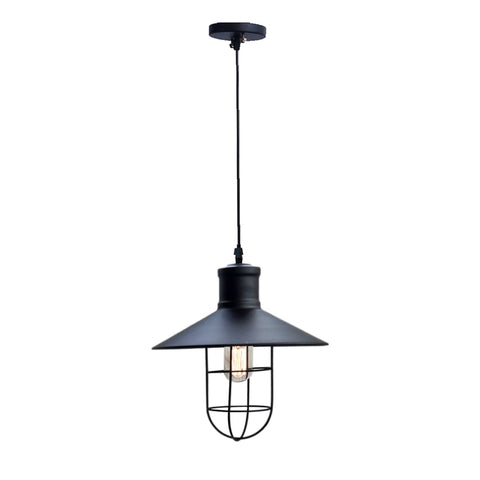 Theopompus Lantern Industrial Style Decor Pendant - The Black Steel