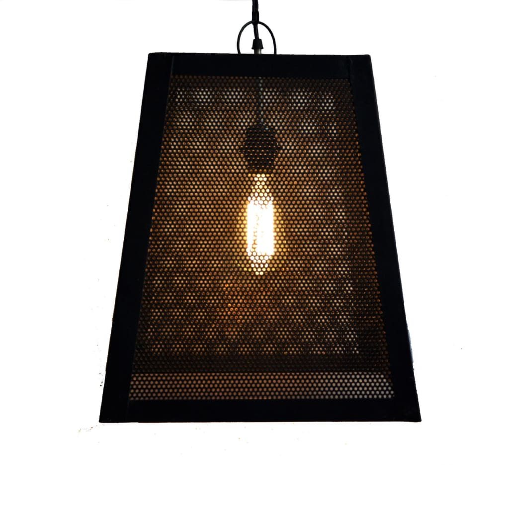 Trapezoid Black Industrial Ceiling Lamp