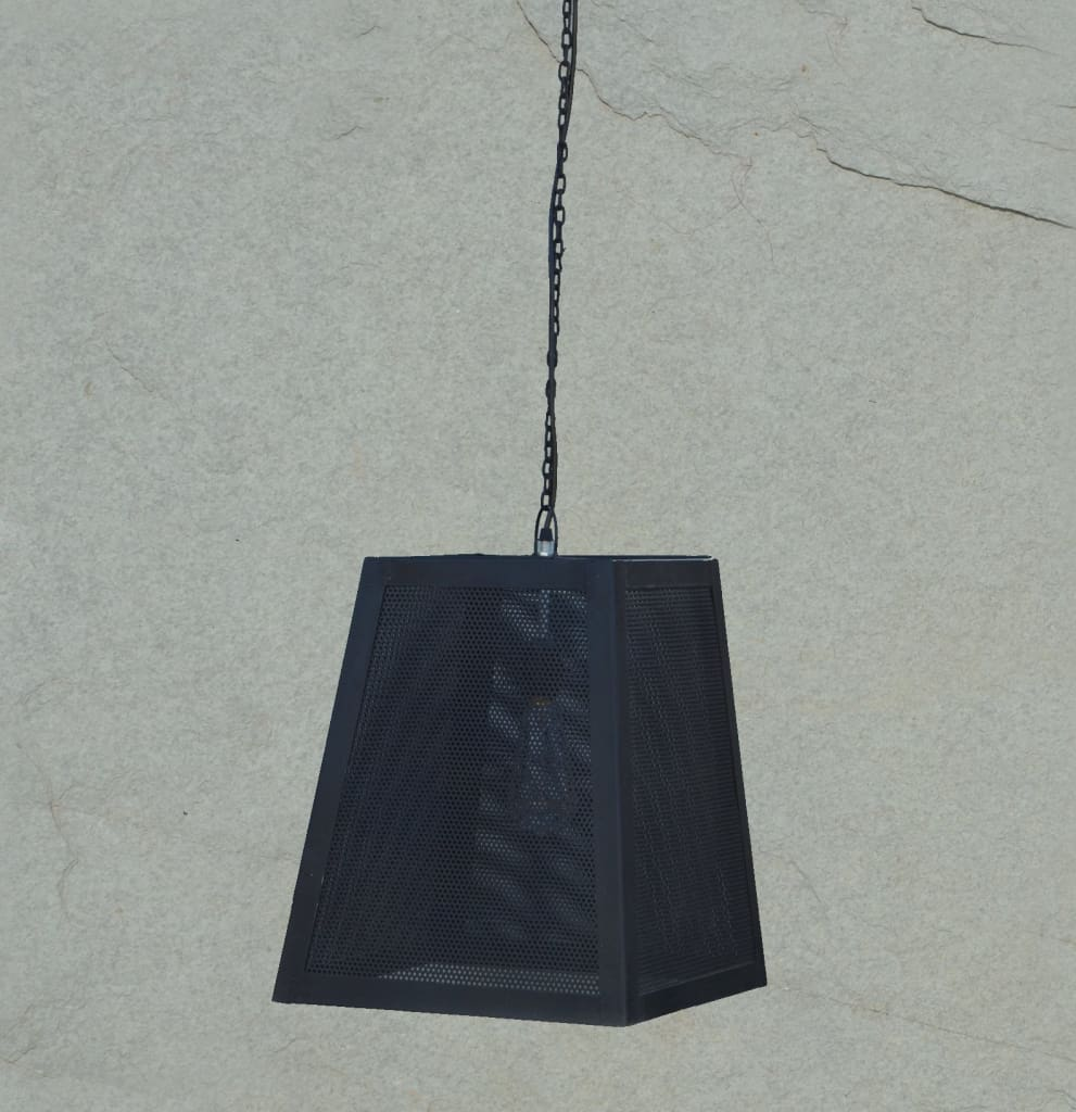 Trapezoid Black Industrial Ceiling Lamp - The Black Steel