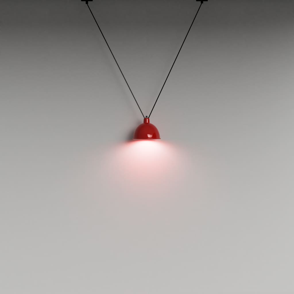 V Cluster Lampshade Pendant Light In Red