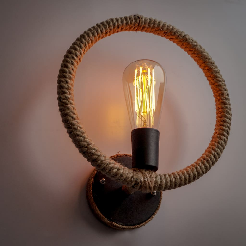 Vintage Warehouse Industrial Rope Wall Sconce