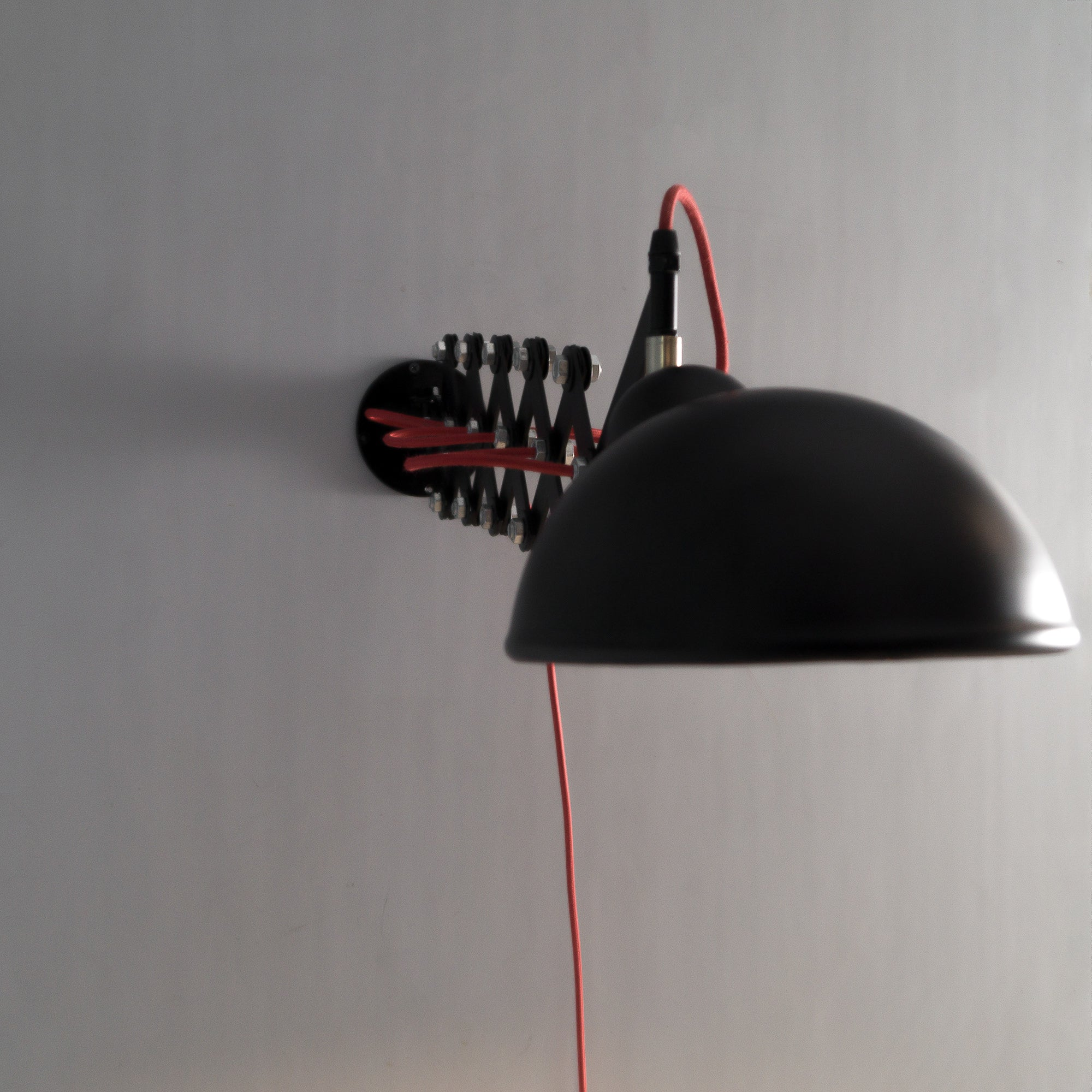 Warsai Scissor Arm Light for Wall and Ceiling - The Black Steel