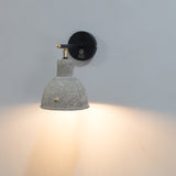 Zolo Concrete Metal Wall Sconce - The Black Steel