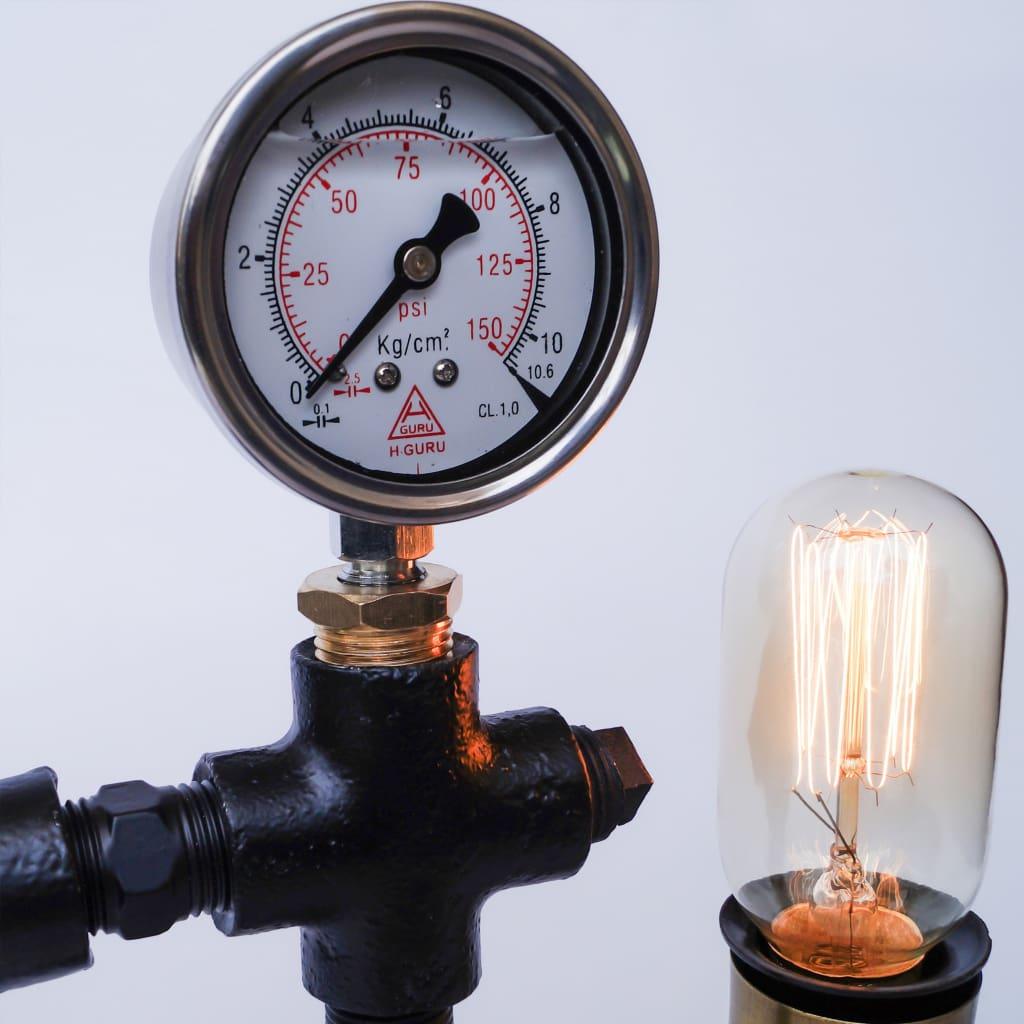 Warehouse Pressure Gauge Twisted Industrial Lamp
