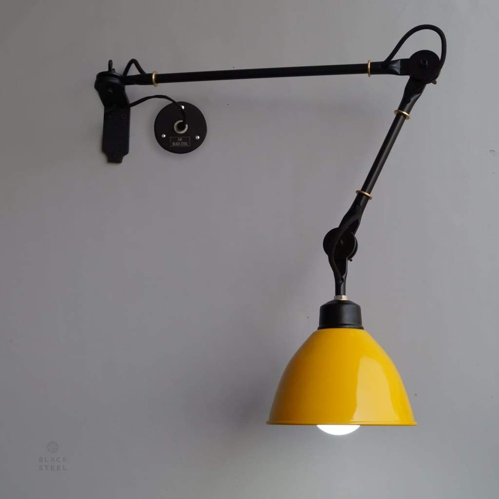 FSW209 Yellow Wall Sconce De Stijl Inspired Swing-Arm Wall Mounted Light