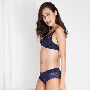 *RESTOCKED* Carried Away Super Push Up Bra in Midnight Blue