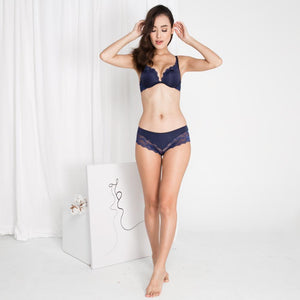 Carried Away Bikini Cheeky in Midnight Blue