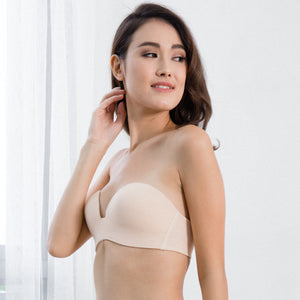 3rd Generation 100% Non-Slip 2-Way Strapless Everyday Bra (Nude) (Size 38A,36C ONLY)