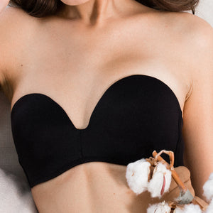 3rd Generation 100% Non-Slip 2-Way Strapless Everyday Bra (Black) (Size 36C, 38A,38B ONLY)