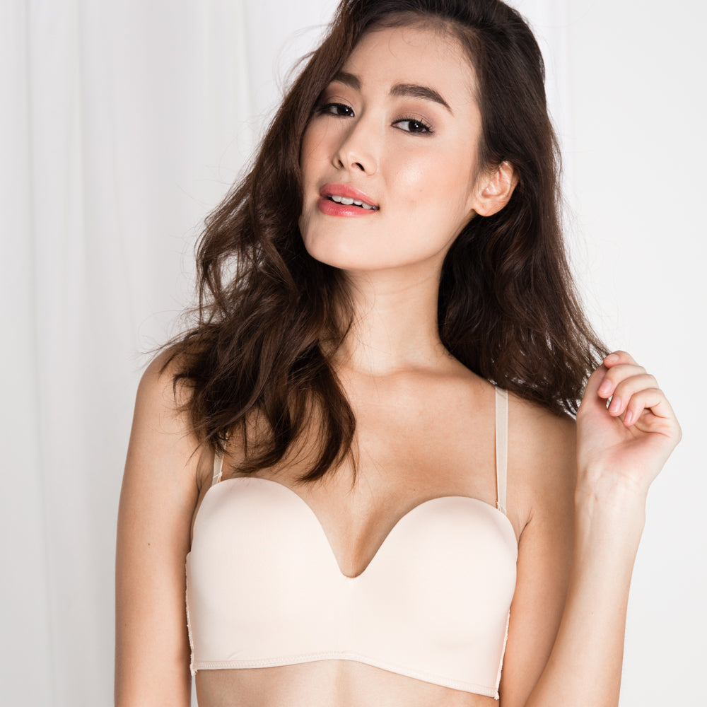 6b37ea9d6b  RESTOCKED  Double Trouble Sexy-Comfy 2-Way Strapless Bra in Nude