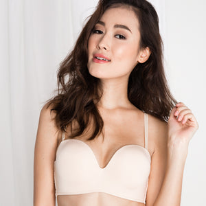 *RESTOCKED* Double Trouble Sexy-Comfy 2-Way Strapless Bra in Nude