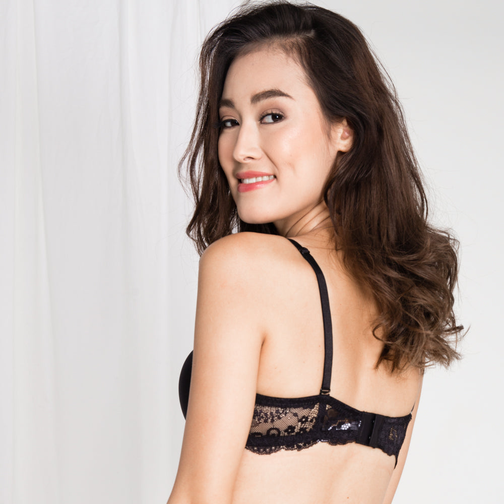 0af10bb3e5  RESTOCKED  Double Trouble Sexy-Comfy 2-Way Strapless Bra in Black