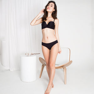 *RESTOCKED* Double Trouble Sexy-Comfy 2-Way Strapless Bra in Black (32A & 32B ONLY)