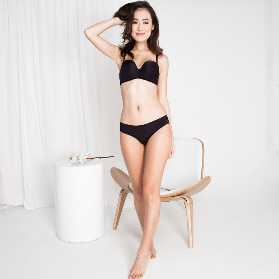 *RESTOCKED* Double Trouble Sexy-Comfy 2-Way Strapless Bra in Black (36A,34A,34C ONLY)