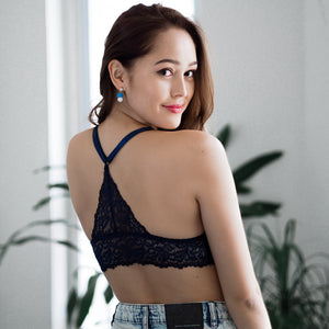 Head Over Heels! Padded Midi Bralette in Blue