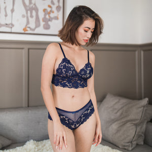 Wild Love Midi Bralette in Midnight Blue