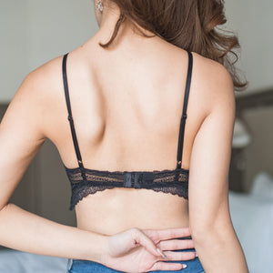 Cuddle Huddle Midi Bralette in Black