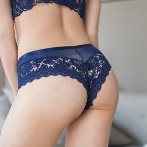 Wild Love Lace Cheeky in Midnight Blue