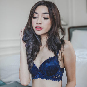 Ravishing Beauty Super Push Up Bra in Evening Blue