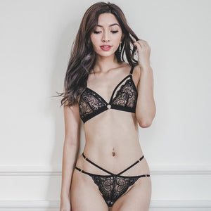 *RESTOCKED* Tempt My Heart Bralette in Black Beauty