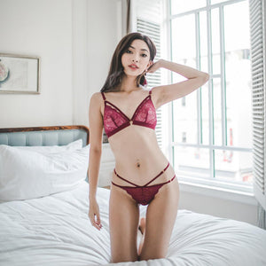 *RESTOCKED* Tempt My Heart Bralette in Beet Red