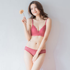 Ultra Soft-Lacey Combo Cheeky in Warm Blush