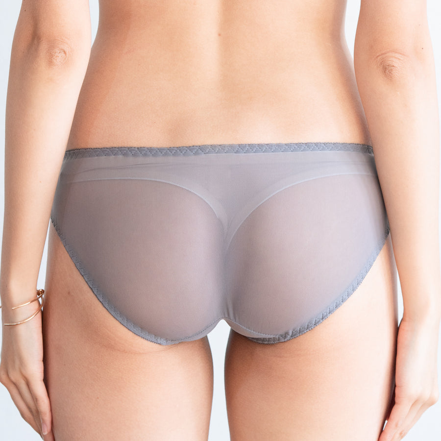 Ultra Soft-Lacey Combo Cheeky in Warm Grey