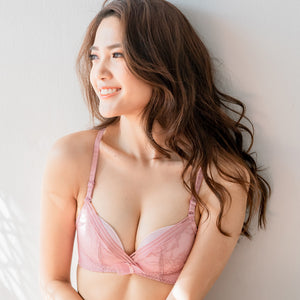 Sexy-Cosy Combo Racerback Wireless Bra in Pink