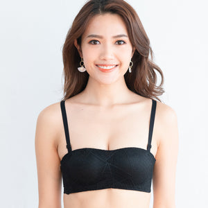 *RESTOCKED* Perky Soft Multi-way Strapless Push Up Wireless Bra in Black