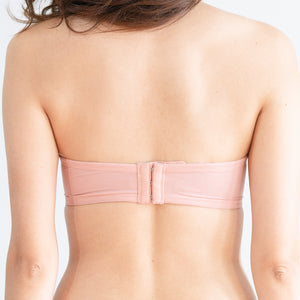Perky Soft Multi-way Strapless Push Up Wireless Bra in Pink