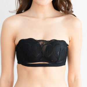 Sexy-Comfy Combo Multiway Wireless Strapless Bra in Black