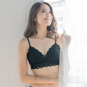 Tangle in Lace! Comfy Wireless T-Shirt Bra in Black