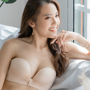 Perfect Bow Super Push Up Wireless Strapless Bra in Nude (Size S, L & XL Only)