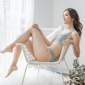 Plunge Scoop-It-Up Wireless Bra in Dusted Grey