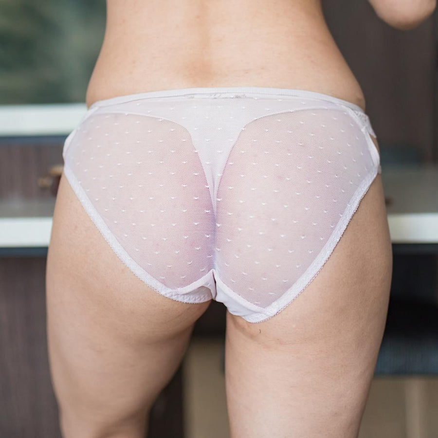 Lacey Racerback Cheeky in Light Blush