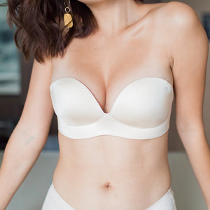 Perfect 2-Way Strapless Wireless Bra in Glossy Nude
