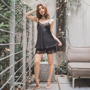 *RESTOCKED* It's Hot! Sleepwear Set in Tempting Black