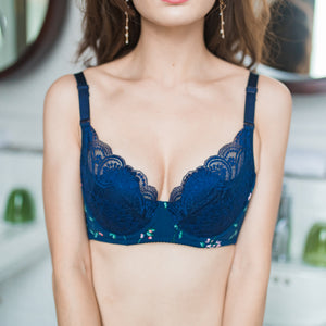 All-Day Comfort Wireless Bra in Midnight Bloom