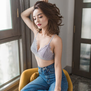 All-Day Romance Lashes Bralette in Grey