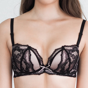 Seductive Illusions Wireless Push Up Bra in Black