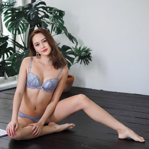 Seductive illusions Wireless Push Up Bra in Grey