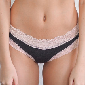 Romantic Illusions Bikini Cheeky in Dark Grey